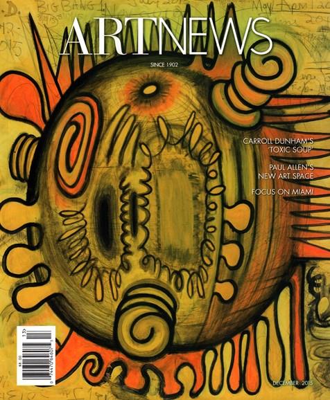 ARTnews Cover - 12/1/2015