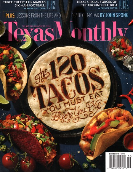 Texas Monthly Cover - 12/1/2015