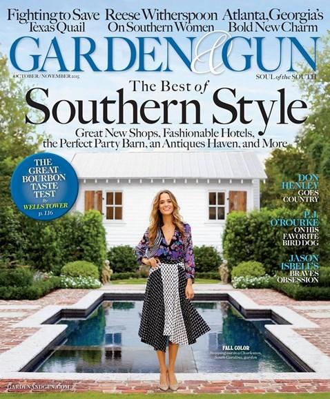 Garden & Gun Cover - 10/1/2015