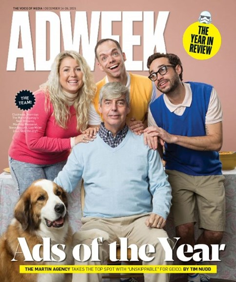 Adweek Cover - 12/14/2015