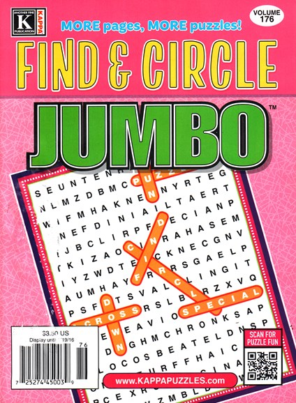 Find & Circle Jumbo Cover - 2/1/2016