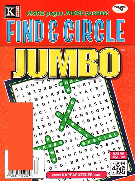 Find & Circle Jumbo Cover - 1/1/2016