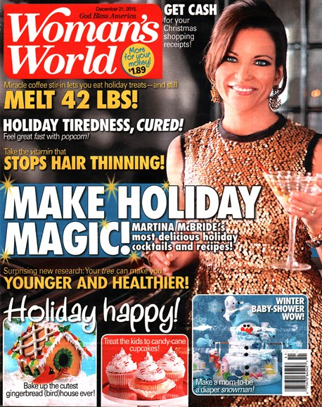 Woman's World Cover - 12/21/2015