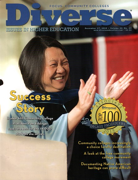 Diverse: Issues In Higher Education Cover - 12/17/2015