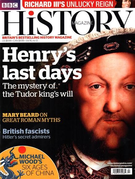 BBC History Cover - 12/1/2015