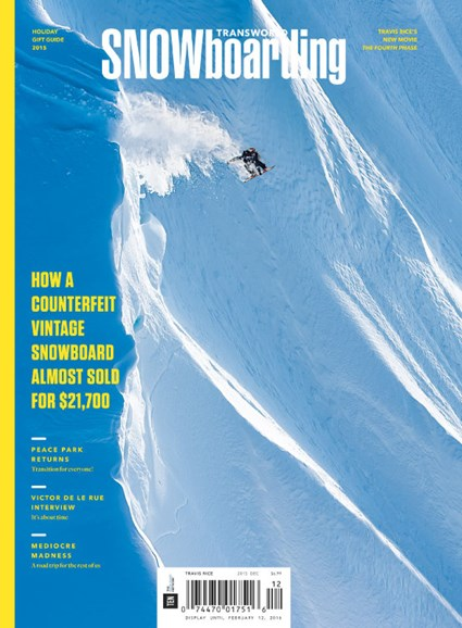 Transworld SNOWboarding Cover - 12/1/2015