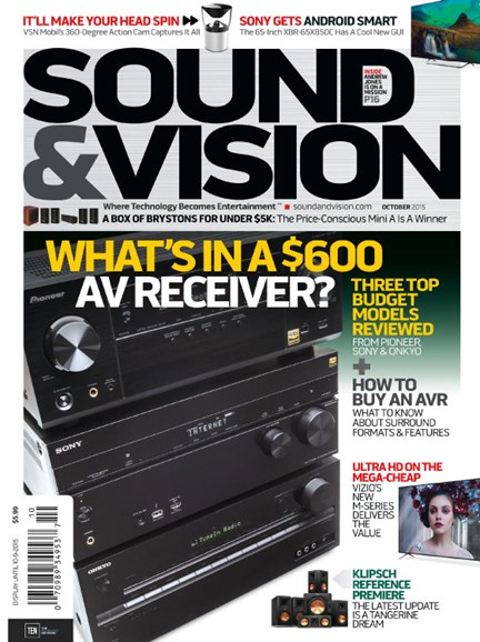 Sound & Vision Cover - 10/1/2015
