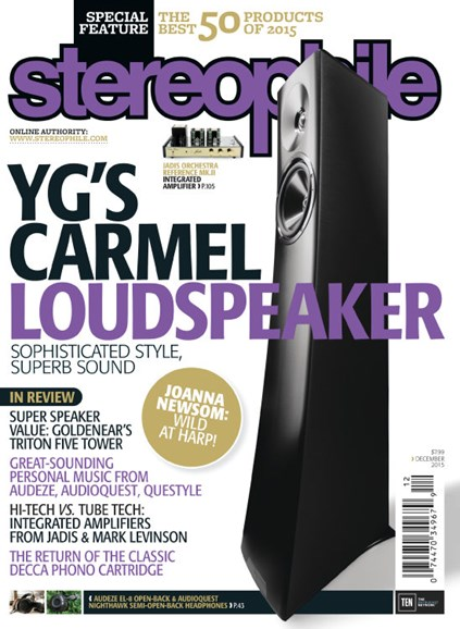 Stereophile Cover - 12/1/2015