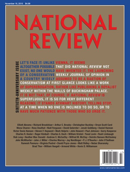 National Review Cover - 11/19/2015