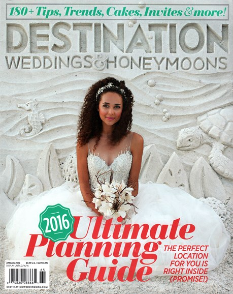 Destination Weddings & Honeymoons Cover - 1/1/2016