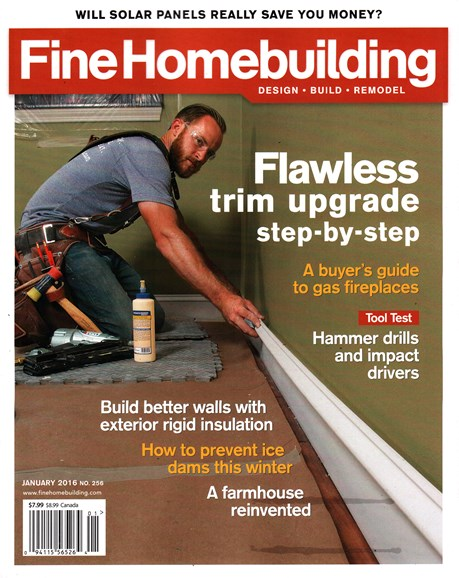 Fine Homebuilding Cover - 1/1/2016