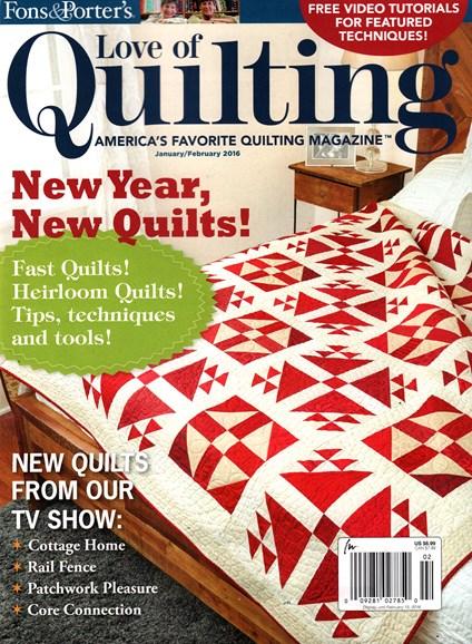 Fons & Porter's Love of Quilting Cover - 1/1/2016