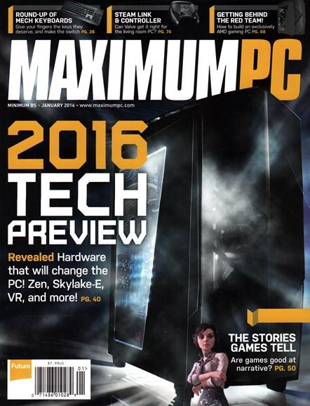 Maximum PC Cover - 1/1/2016