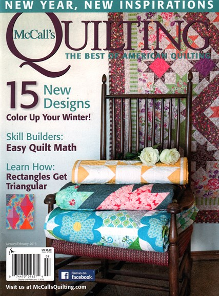 McCall's Quilting Cover - 1/1/2016