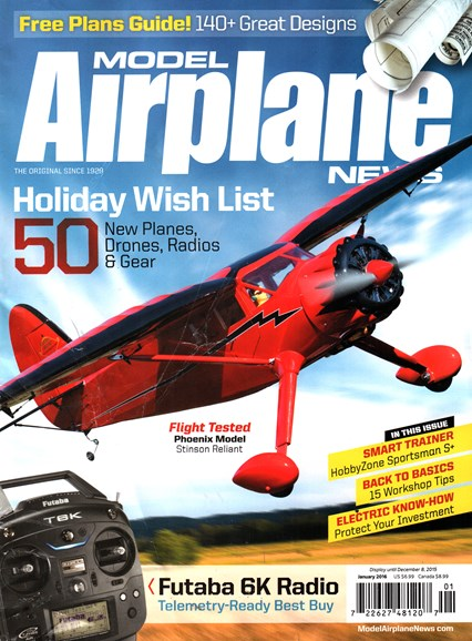 Model Airplane News Cover - 1/1/2016