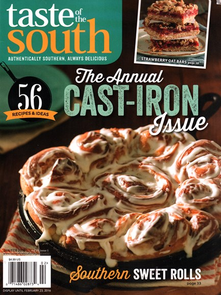 Taste of the South Cover - 1/1/2016