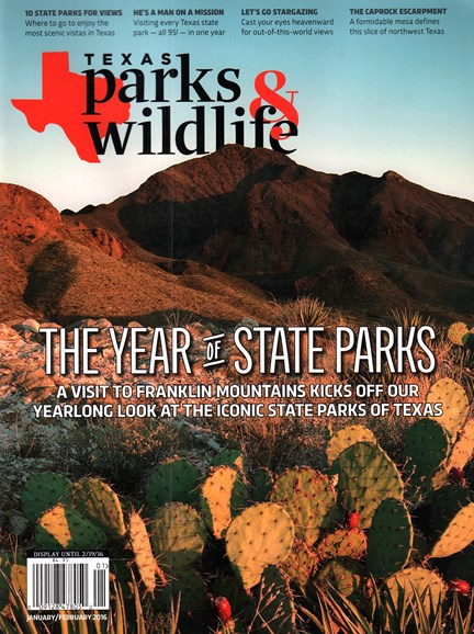 Texas Parks & Wildlife Cover - 1/1/2016