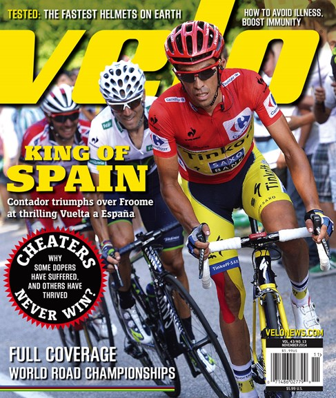 VeloNews Cover - 11/1/2014