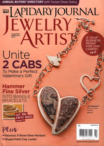 Lapidary Journal Jewelry Artist Cover - 1/1/2016