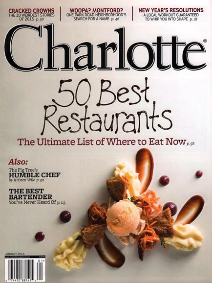 Charlotte Magazine Cover - 1/1/2016