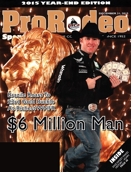 Pro Rodeo Sports News Cover - 12/31/2015