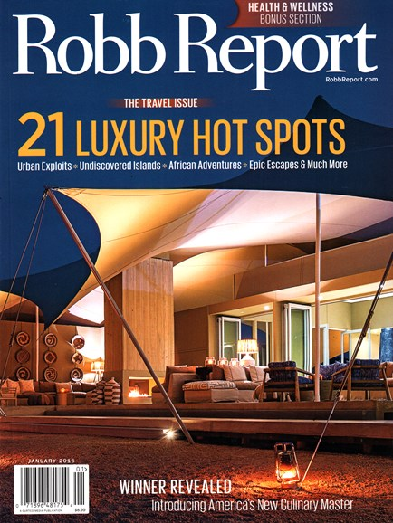 Robb Report Cover - 1/1/2016