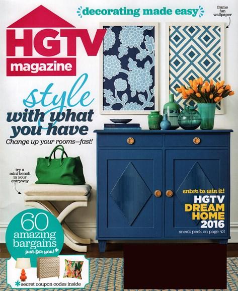 HGTV Cover - 1/1/2016