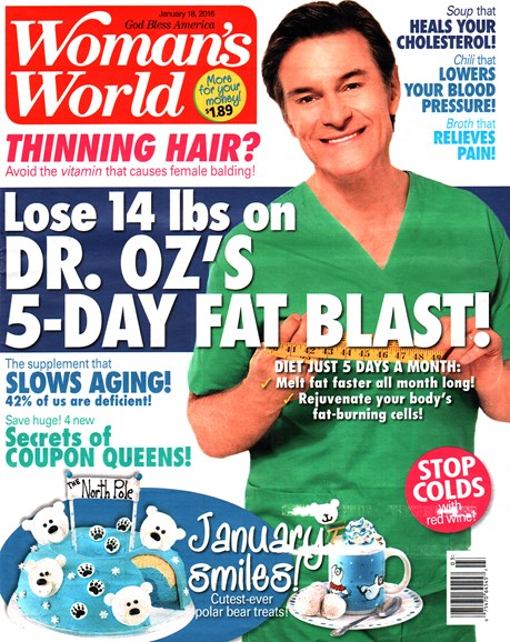 Woman's World Cover - 1/18/2016
