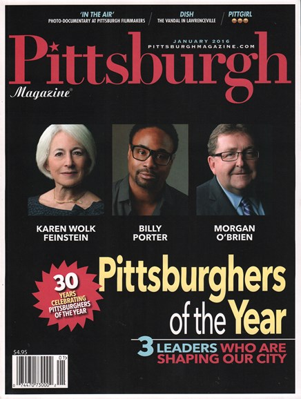 Pittsburgh Magazine Cover - 1/1/2016