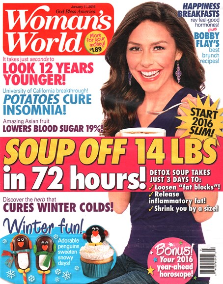 Woman's World Cover - 1/11/2016