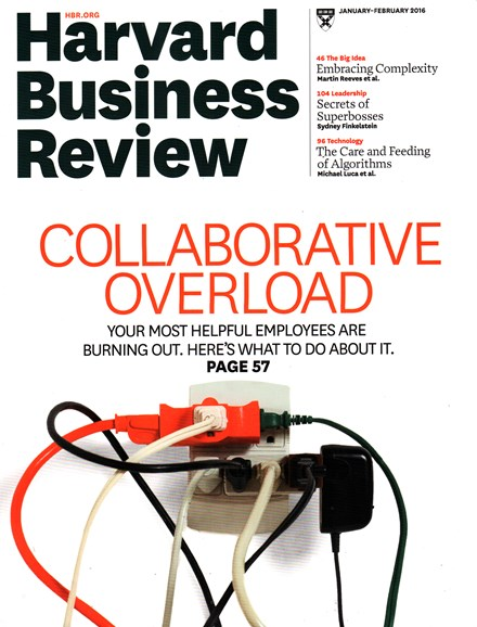 Harvard Business Review Cover - 1/1/2016