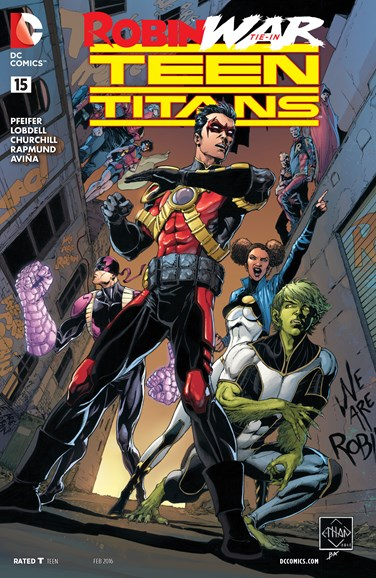 Teen Titans Cover - 2/15/2016