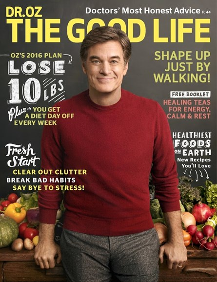 Dr. Oz The Good Life Cover - 1/1/2016