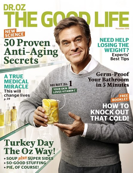 Dr. Oz The Good Life Cover - 11/1/2015