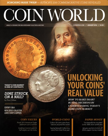 Coin World Monthly Cover - 1/1/2016