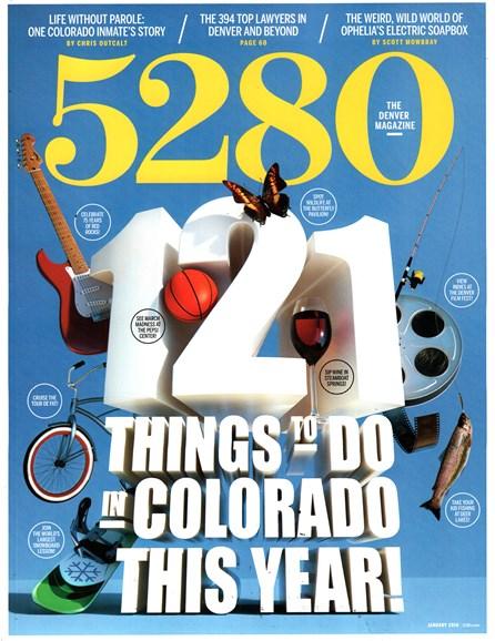 5280 Magazine Cover - 1/1/2016