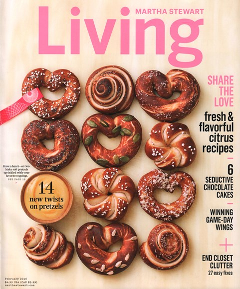 Martha Stewart Living Cover - 2/1/2016