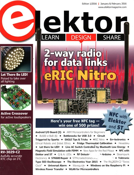 Elektor - North American Edition Cover - 1/1/2016