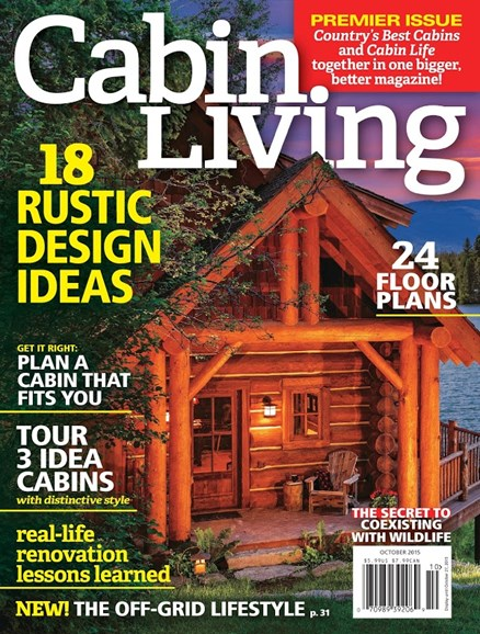 Cabin Living Cover - 9/1/2015