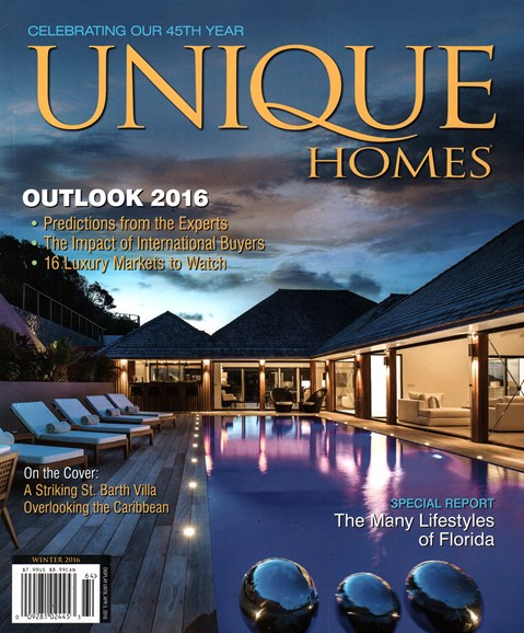 Unique Homes Cover - 1/1/2016