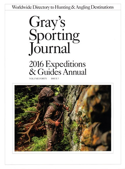 Gray's Sporting Journal Cover - 1/1/2016