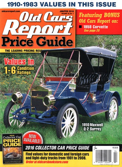 Old Cars Report Price Guide Cover - 1/1/2016