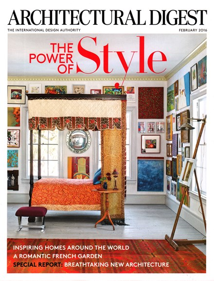 Architectural Digest Cover - 2/1/2016