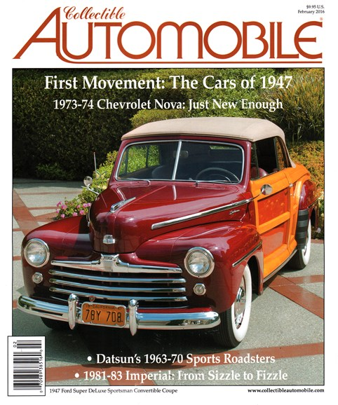 Collectible Automobile Cover - 2/1/2016