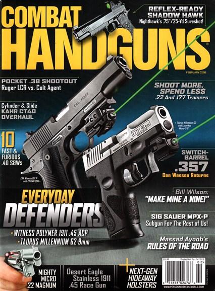Combat Handguns Cover - 2/1/2016