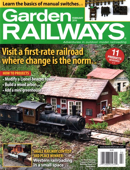 Garden Railways Cover - 2/1/2016