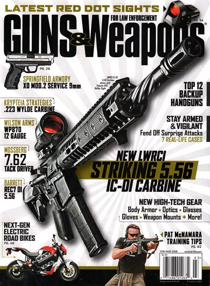 Guns & Weapons For Law Enforcement Cover - 2/1/2016