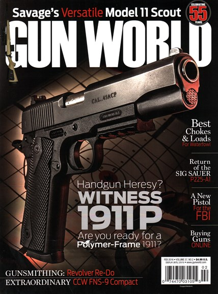 Gun World Cover - 2/1/2016