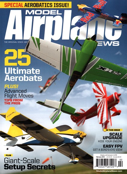 Model Airplane News Cover - 2/1/2016