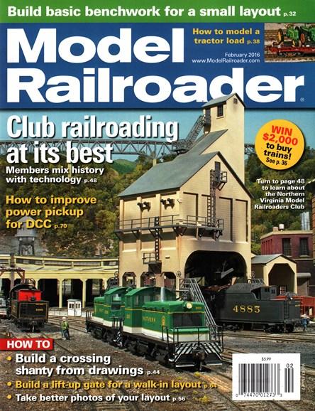 Model Railroader Cover - 2/1/2016
